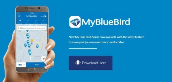 Bluebird app bali taxi