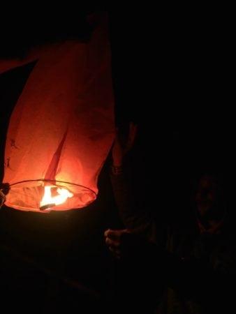 mount batter lantern