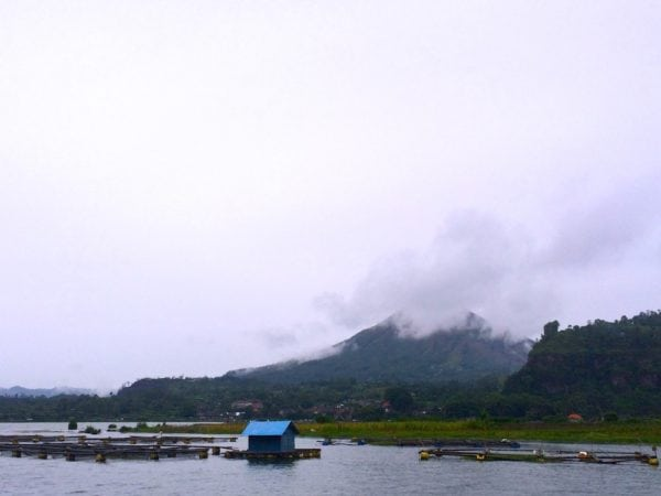 Mount Batur as seen from a neighboring village