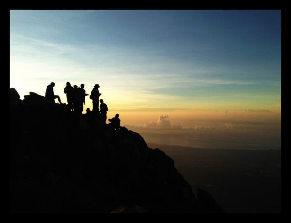 Mount Agung summit