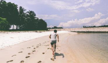 Beach running in South Bali