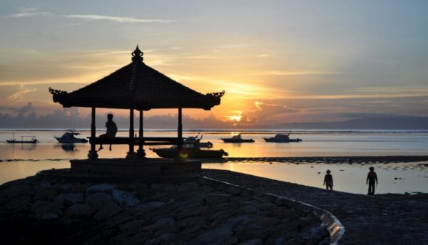 First sunrise of the year in Sanur.