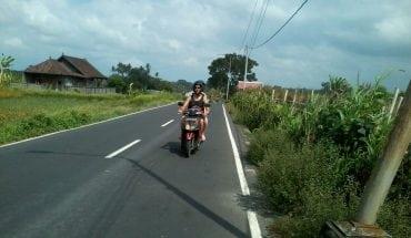 Bali on motorbike