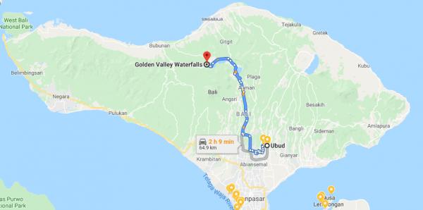munduk waterfall map