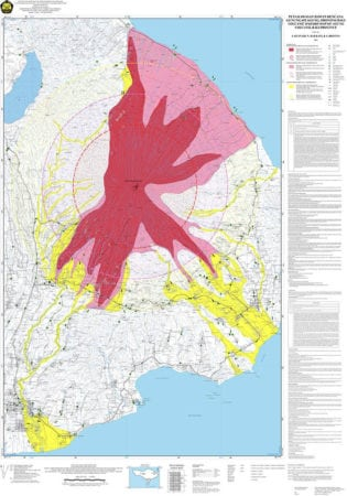 Mount agung eruption affected areas