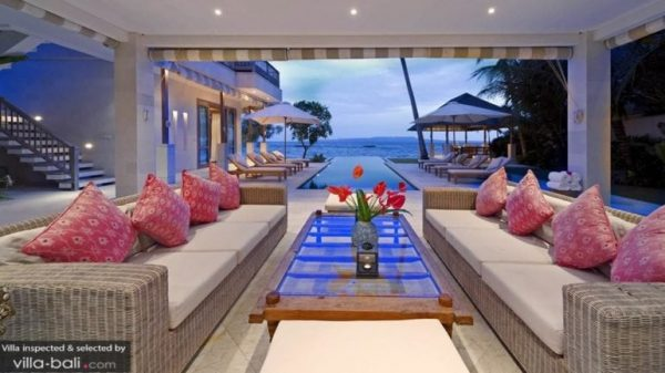 stunning beach villa view