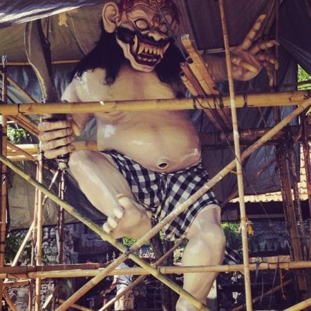 making of Ogoh-ogoh demons