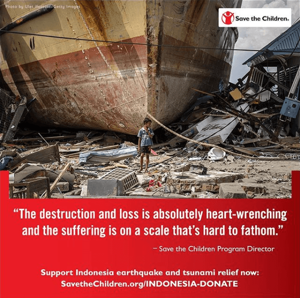 Help Sulawesi earthquake victims - Save The Children