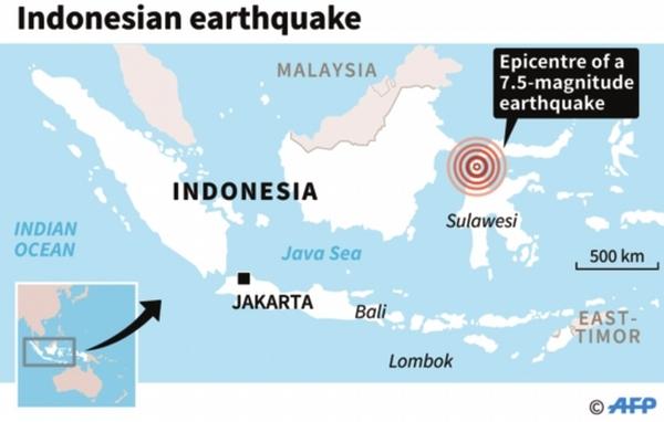 Sulawesi earthquake and Bali
